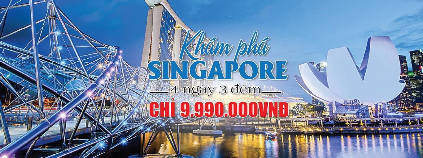 TOUR SINGAPORE 4N3Đ GIÁ 9990K
